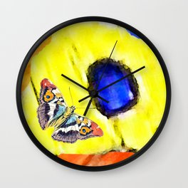 The butterfly scales Wall Clock