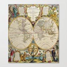 Antique Map Canvas Print