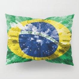 Extruded flag of Brazil Pillow Sham