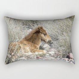 Salt River Colt Taking a Rest Rectangular Pillow