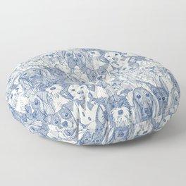 dogs aplenty classic blue pearl Floor Pillow
