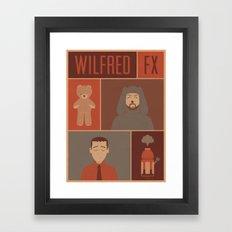 WILFRED FX ILLUSTRATED POSTER Framed Art Print