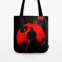 star lord Tote Bags featuring Death Star Dark Lord by leea1968