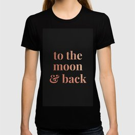 to the moon and back - black T-shirt