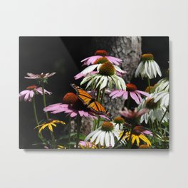 Spread Your Tiny Wings #flowers #butterfly Metal Print