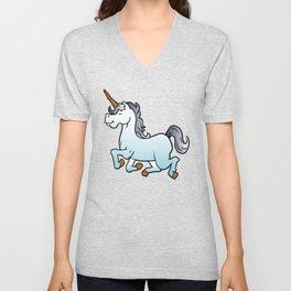 cartoon unicorn Unisex V-Neck