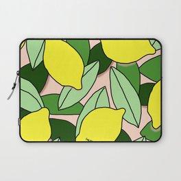 Lemons - Lemon Pattern - January Laptop Sleeve
