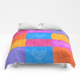color block hearts Comforters