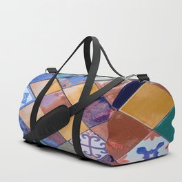multicolor ceramic tiles Duffle Bag