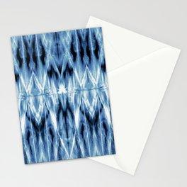 Blue Satin Shibori Argyle Stationery Cards