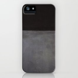 Mark Rothko Black on Grey iPhone Case