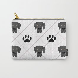 Black Great Dane Paw Print Pattern Carry-All Pouch