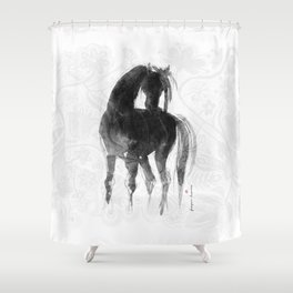 Horse (Little Black Mare) Shower Curtain