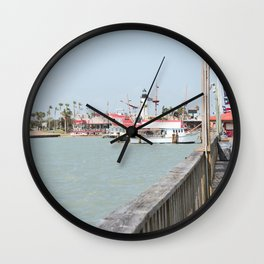 Lighthouse in Port Isabel Texas Wall Clock