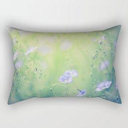 Flax Flowers Rectangular Pillow