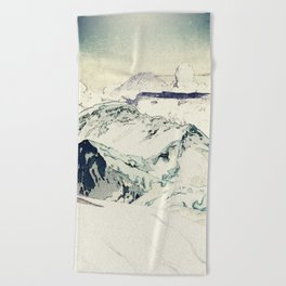 Flight Over Yatsugate Beach Towel