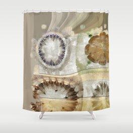 Coated Beauty Flower  ID:16165-092128-56061 Shower Curtain