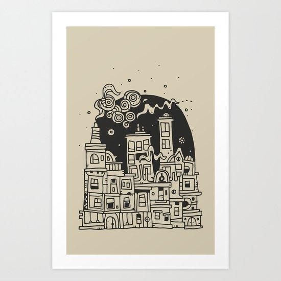 City at Night Art Print