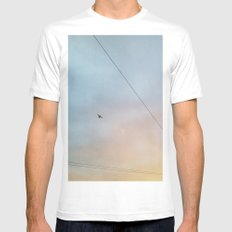 Flying High White Mens Fitted Tee MEDIUM