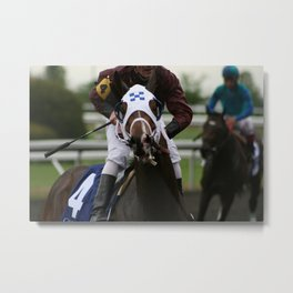 After the Race Metal Print