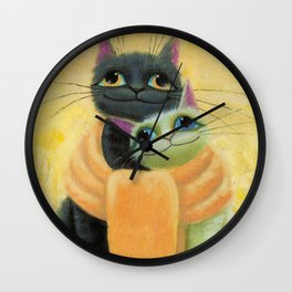 cat play Wall Clock