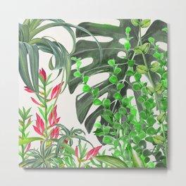 Watercolor Plants III Metal Print