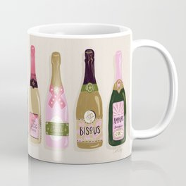 French Champagne Collection – Pink & Green Coffee Mug