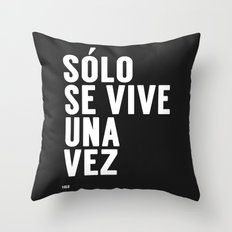 YOLO in Spanish Throw Pillow