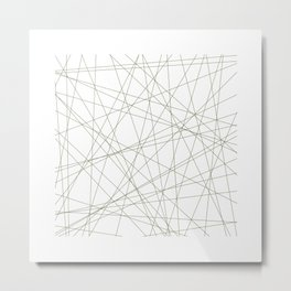#191 Forty-nine straight lines – Geometry Daily Metal Print