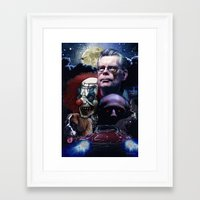 stephen king Framed Art Prints featuring Stephen King by Saint Genesis