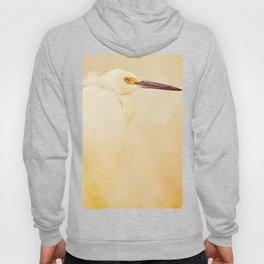 Elegance of a Snowy Egret Hoody