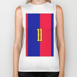 soccer team jersey number eleven Biker Tank