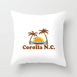 Corolla - North Carolina. Throw Pillow