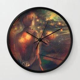 Through Crimson Stars and Silent Stars Wall Clock