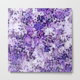 Crayon Confetti Purple Lavender Metal Print