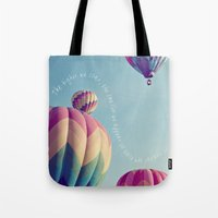 nietzsche Tote Bags featuring the higher we soar by shannonblue
