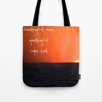 cape cod Tote Bags featuring Goodnight Cape Cod by KarenHarveyCox