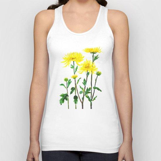yellow chrysanthemum Unisex Tank Top