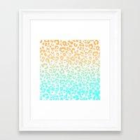 leopard Framed Art Prints featuring LeopARD by Monika Strigel