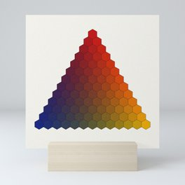 Lichtenberg-Mayer Colour Triangle variation, Remake using Mayers original idea of 12+1 chambers Mini Art Print