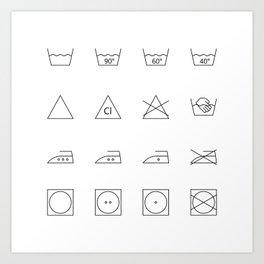 laundry time Art Print