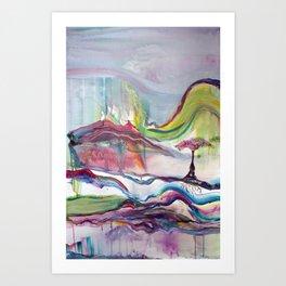 Egret Escape Art Print