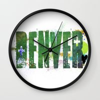 denver Wall Clocks featuring Denver by Tonya Doughty