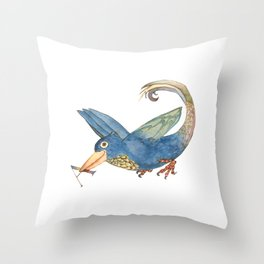 Dressed bird Throw Pillow