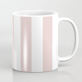 Dust storm pink - solid color - white vertical lines pattern Coffee Mug