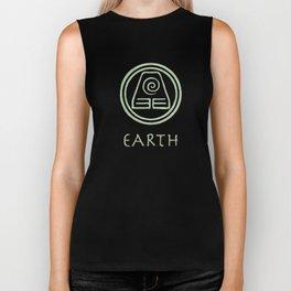 Avatar Last Airbender Elements - Earth Biker Tank