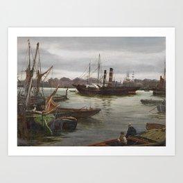 Charles Napier Hemy , On the Tyne, 1889 Art Print