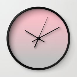 Elegant gradient blush pink - grey Wall Clock