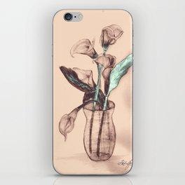Old Photo Calla Lilies iPhone Skin