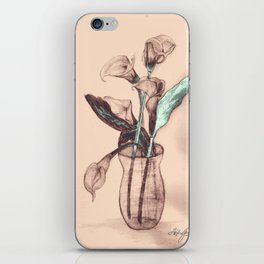 Old Photo Calla Lilies iPhone Skin